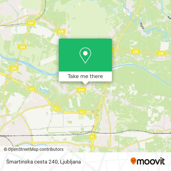 Šmartinska cesta 240 map