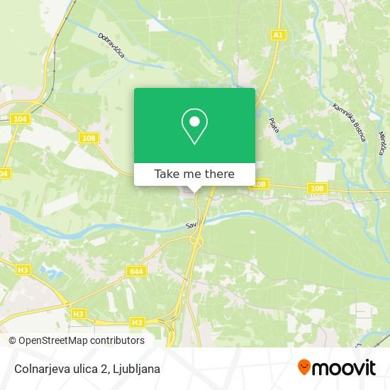 Colnarjeva ulica 2 map