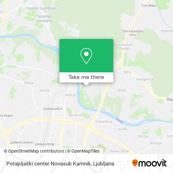 Potapljaški center Novasub Kamnik map
