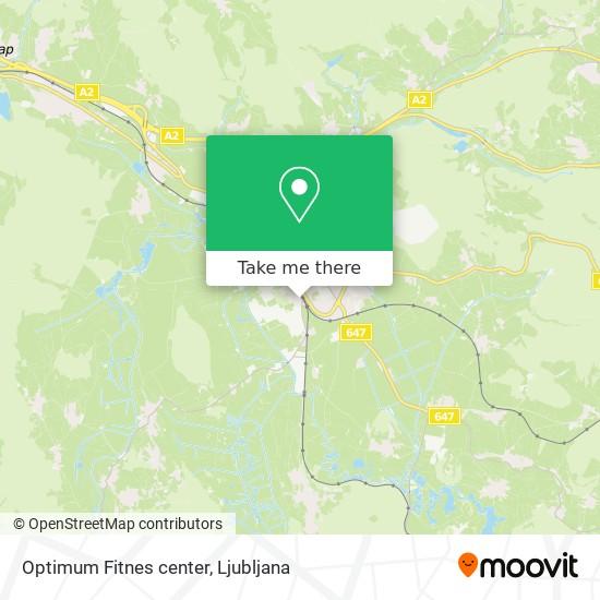 Optimum Fitnes center map