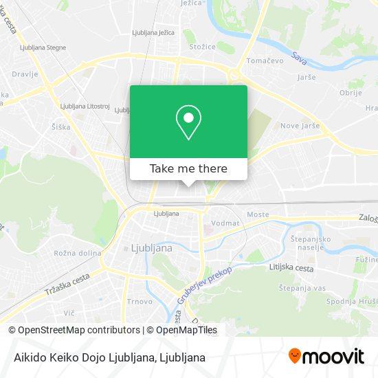 Aikido Keiko Dojo Ljubljana map