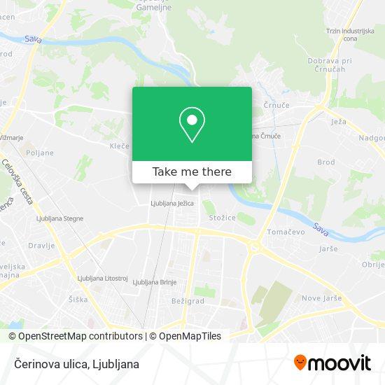 Čerinova ulica map