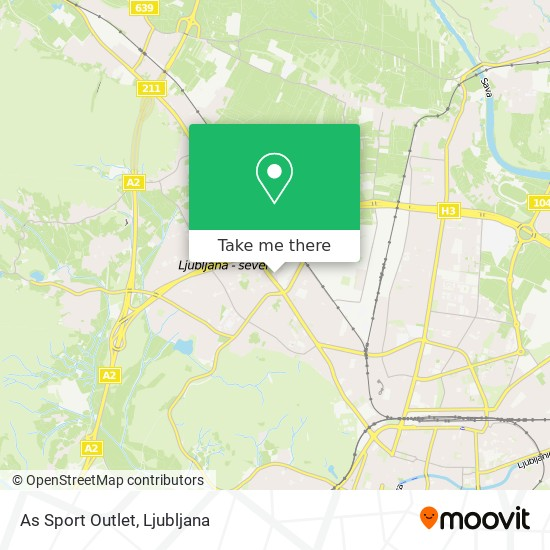 As Sport Outlet map