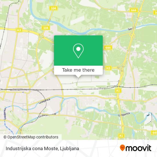 Industrijska cona Moste map