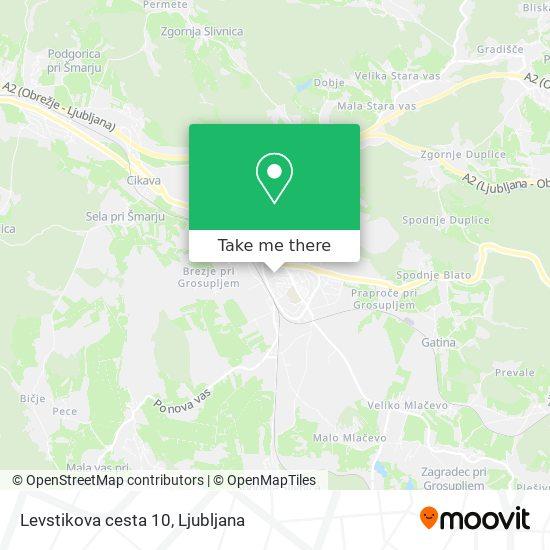 Levstikova cesta 10 map