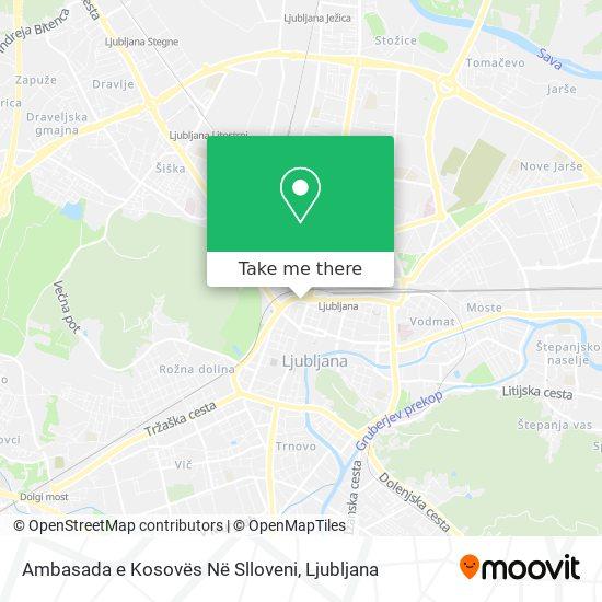 Ambasada e Kosovës Në Slloveni map