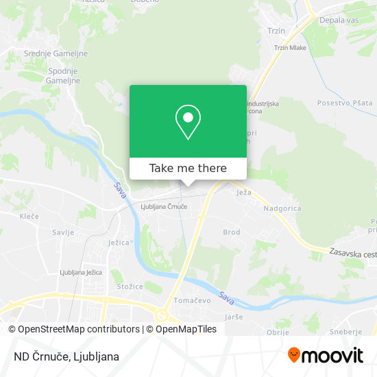 ND Črnuče map
