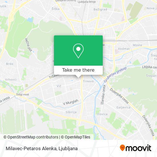 Milavec-Petaros Alenka map