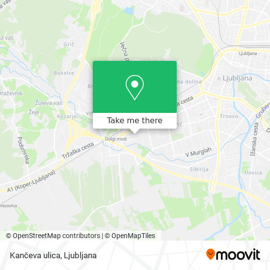 Kančeva ulica map