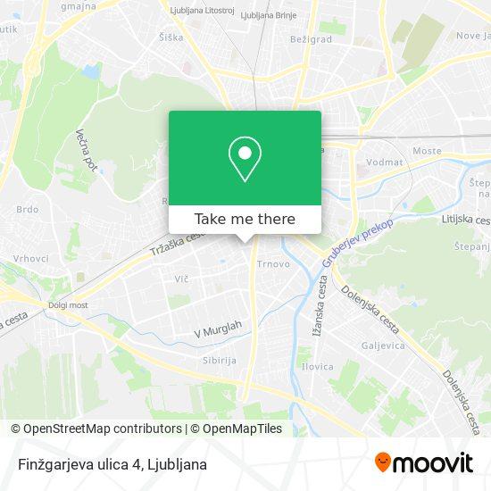Finžgarjeva ulica 4 map