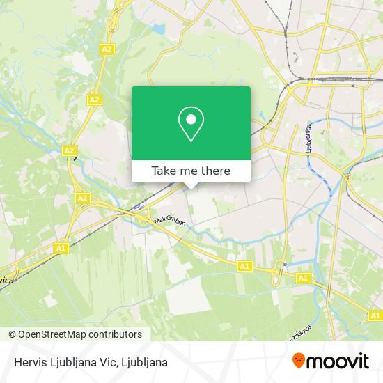 Hervis Ljubljana Vic map