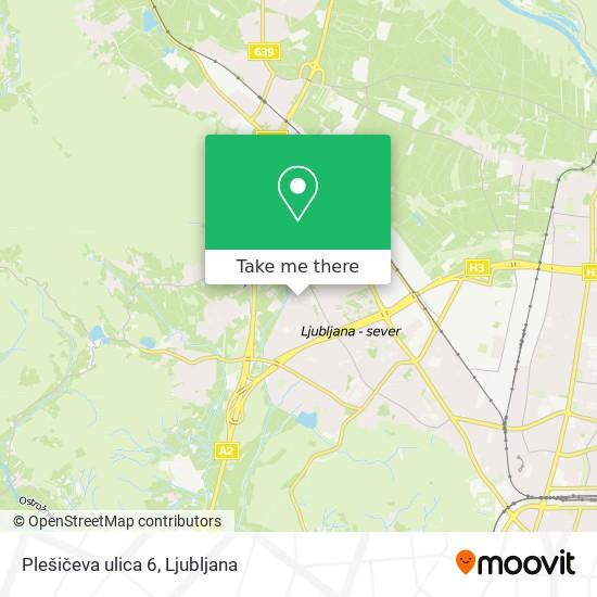 Plešičeva ulica 6 map