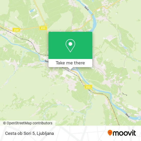 Cesta ob Sori 5 map