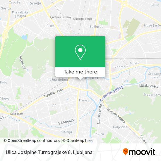 Ulica Josipine Turnograjske 8 map