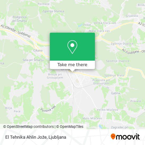 El Tehnika Ahlin Jože map