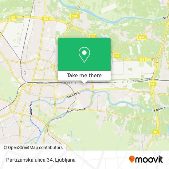 Partizanska ulica 34 map