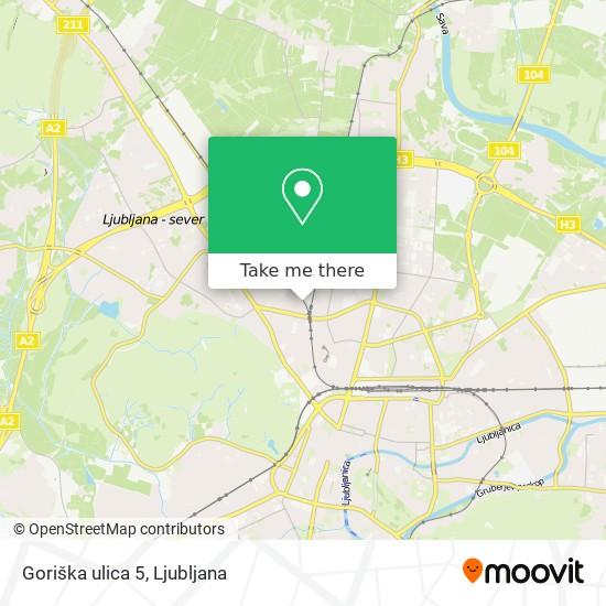 Goriška ulica 5 map