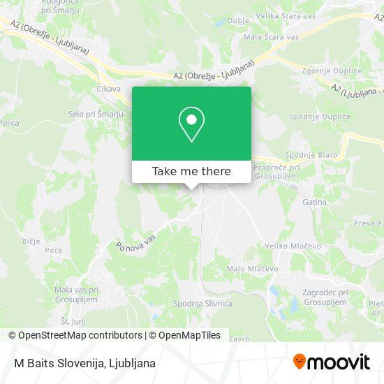M Baits Slovenija map