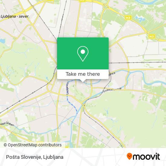 Pošta Slovenije map