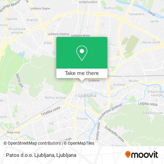 Patos d.o.o. Ljubljana map