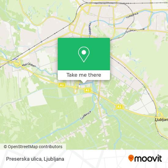 Preserska ulica map