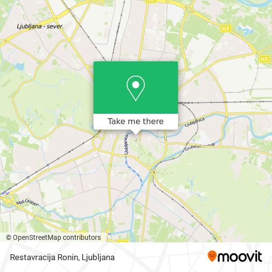 Restavracija Ronin map