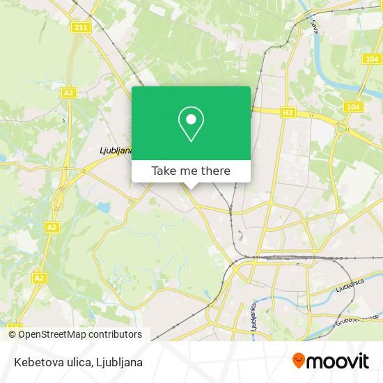 Kebetova ulica map