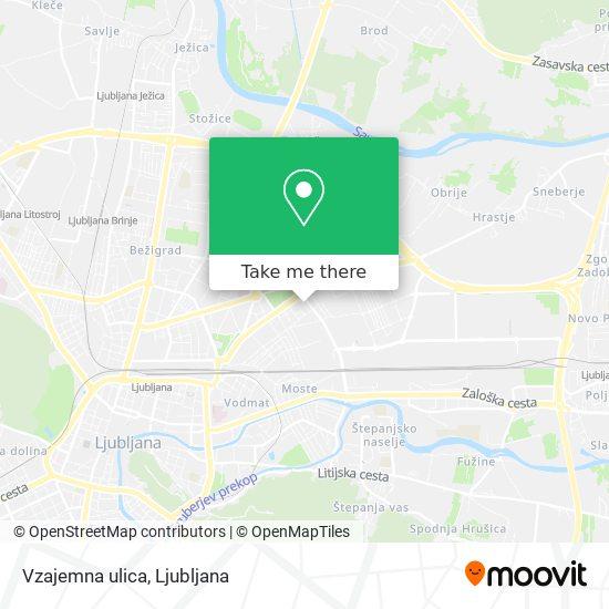 Vzajemna ulica map
