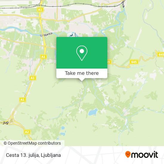 Cesta 13. julija map