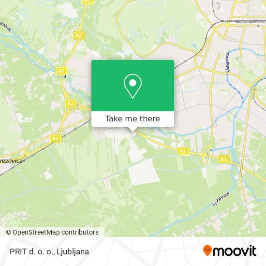 PRIT d. o. o. map