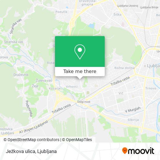 Ježkova ulica map