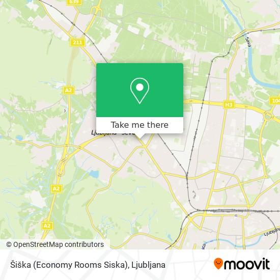 Šiška (Economy Rooms Siska) map