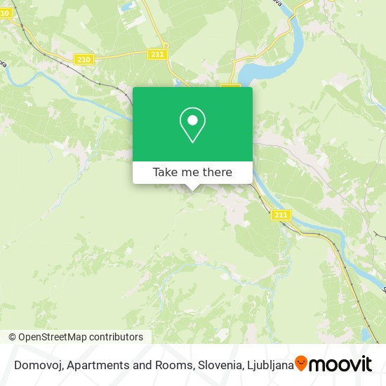 Domovoj, Apartments and Rooms, Slovenia map