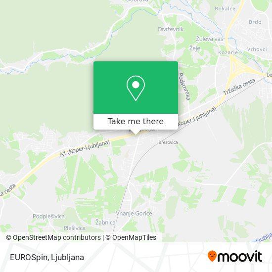 EUROSpin map