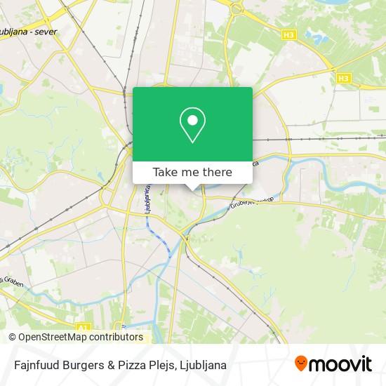 Fajnfuud Burgers & Pizza Plejs map