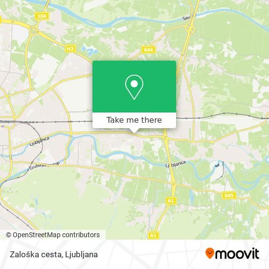 Zaloška cesta map