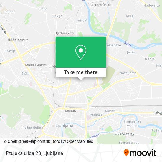 Ptujska ulica 28 map
