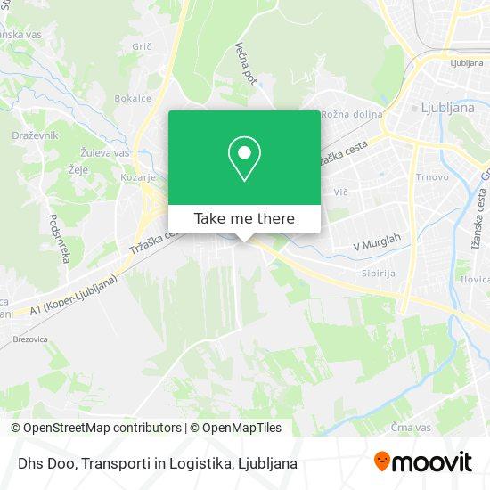 Dhs Doo, Transporti in Logistika map