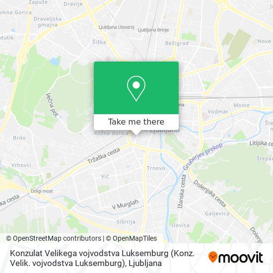 Konzulat Velikega vojvodstva Luksemburg (Konz. Velik. vojvodstva Luksemburg) map