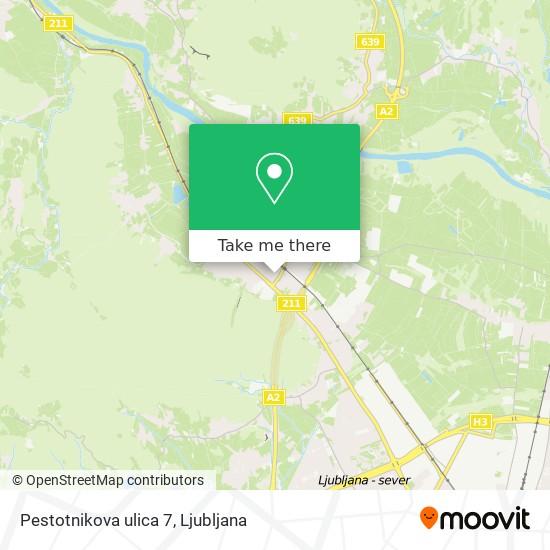 Pestotnikova ulica 7 map