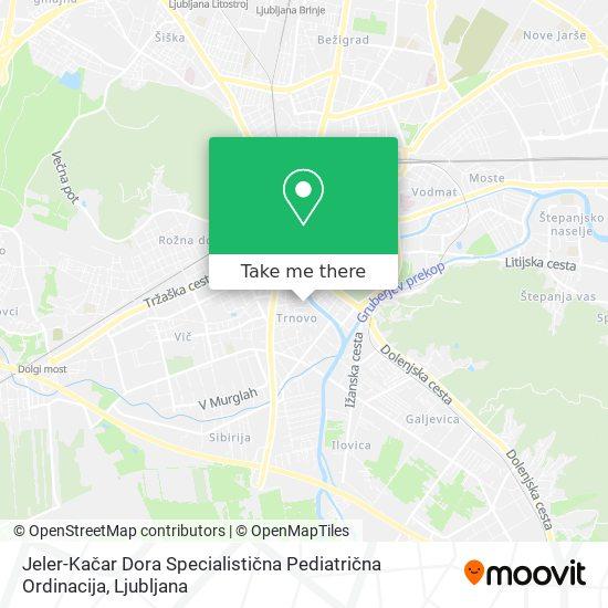 Jeler-Kačar Dora Specialistična Pediatrična Ordinacija map