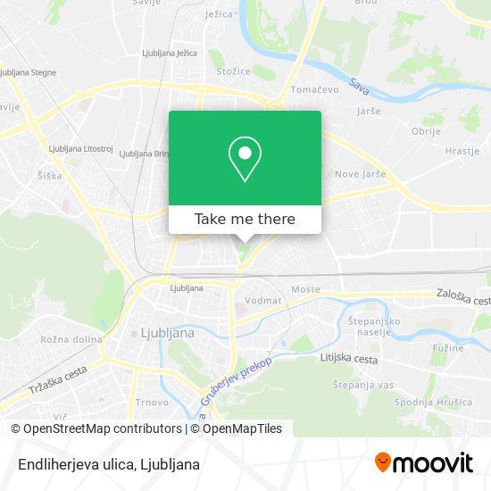 Endliherjeva ulica map