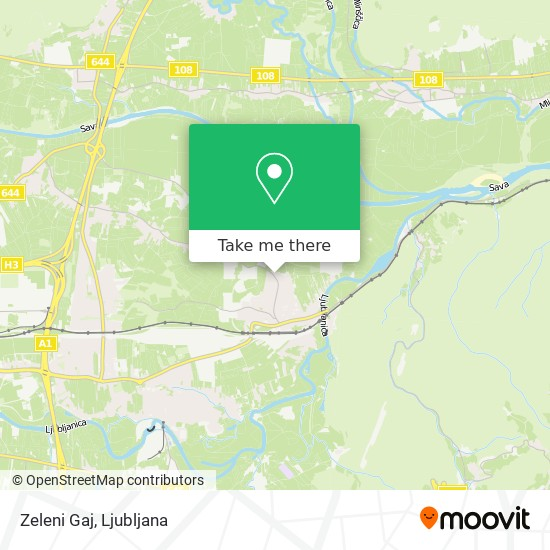 Zeleni Gaj map