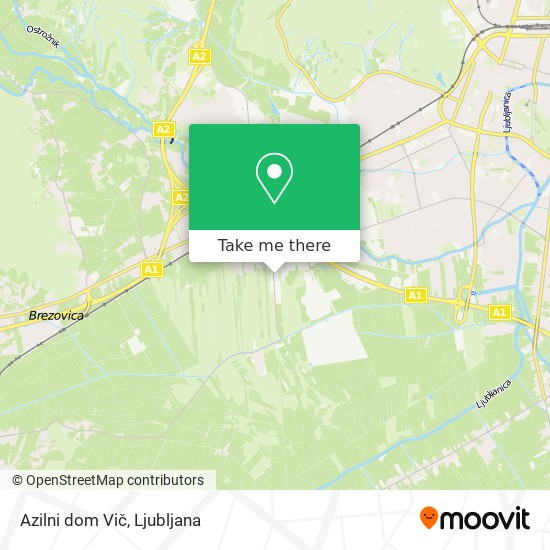 Azilni dom Vič map