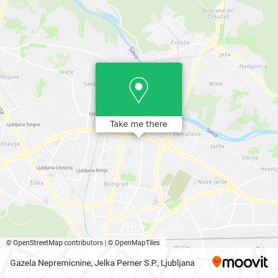 Gazela Nepremicnine, Jelka Perner S.P. map