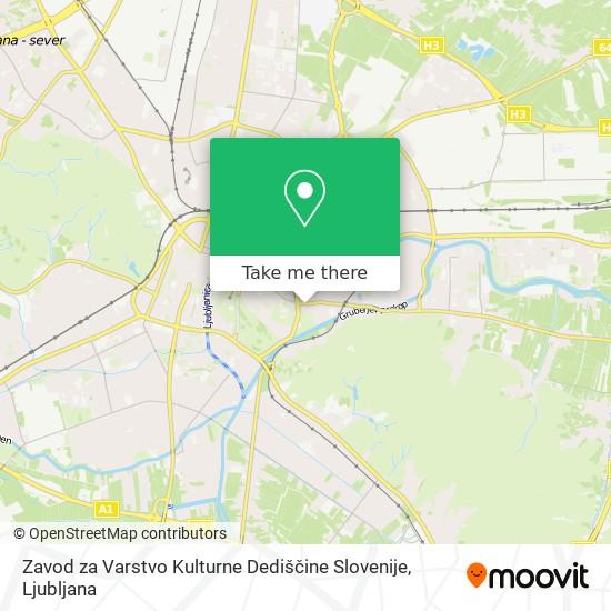 Zavod za Varstvo Kulturne Dediščine Slovenije map