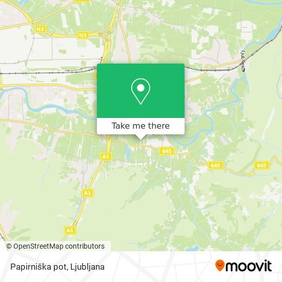Papirniška pot map