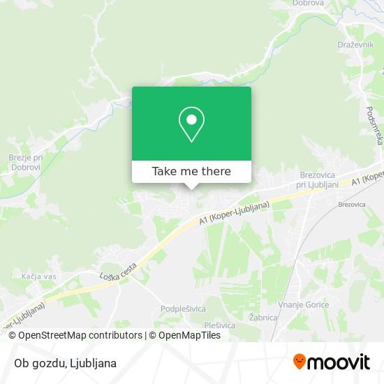 Ob gozdu map