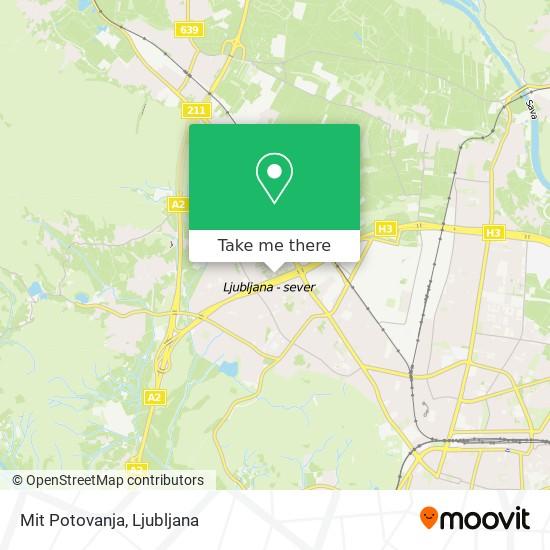 Mit Potovanja map