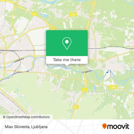 Mao Slovenia map